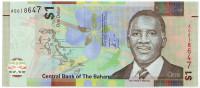 Банкнота 1 доллар. 2017 год, Багамские острова.