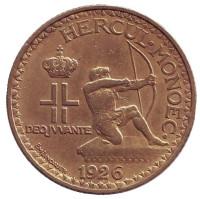 Монако 1 франк. 1926 год, Монако.
