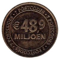 48,9 Miljoen. Postcode Loterij. Почтовая лотерея. Лотерейный жетон. 2013 год, Нидерланды.