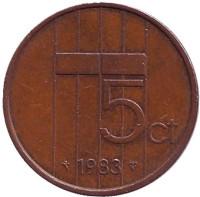 5 центов. 1983 год, Нидерланды.