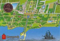 300 лет Петергофу. Пётр I. Памятный жетон в открытке. СПМД, 2005 год.