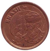 Педру Алвариш Кабрал. Монета 1 сентаво. 2000 год, Бразилия.