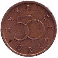 Монета 50 эре. 2006 год, Швеция.