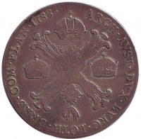 Монета 1/2 талера. 1788 год, Австрийские Нидерланды.