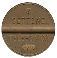Телефонный жетон. 7311. Италия. 1973 год. (Отметка: ESM)