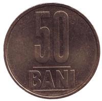 Монета 50 бани. 2009 год, Румыния. UNC.
