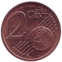Монета 2 цента. 2017 год, Литва.