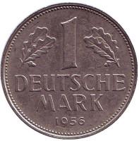 Монета 1 марка. 1956 год (J), ФРГ.