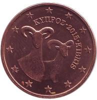 Монета 2 цента. 2015 год, Кипр.