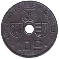 10 сантимов. 1943 год, Бельгия (Belgie-Belgique).
