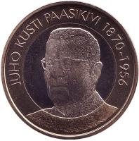 Юхо Кусти Паасикиви. Президенты Финляндии. Монета 5 евро. 2017 год, Финляндия.