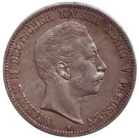 Монета 5 марок. 1902 год, Германская империя.