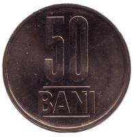 Монета 50 бани. 2012 год, Румыния. UNC.