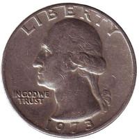 Вашингтон. Монета 25 центов. 1973 год, США.