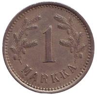 Монета 1 марка. 1921 год, Финляндия. Из обращения.
