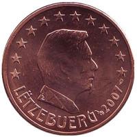 Монета 5 центов. 2007 год, Люксембург.