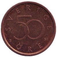 Монета 50 эре. 2008 год, Швеция.