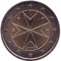 Монета 2 евро. 2008 год, Мальта.