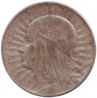 Ядвига. Монета 5 злотых. 1932 год, Польша.