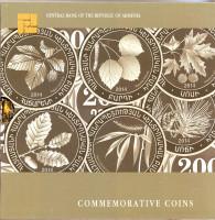 Деревья Армении. Набор из 6 монет в буклете. 200 драмов, 2014 год, Армения.