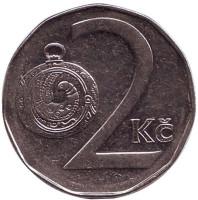 Монета 2 кроны. 1997 год, Чехия.