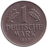 Монета 1 марка. 1983 год (D), ФРГ. Из обращения.