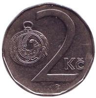 Монета 2 кроны. 1994 год, Чехия.