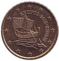 Монета 10 центов. 2015 год, Кипр.