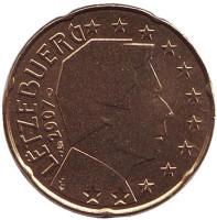 Монета 10 центов. 2007 год, Люксембург.