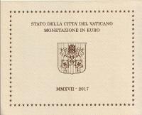 Годовой набор монет евро Ватикана в буклете. 2017 год, Ватикан.