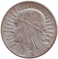 Ядвига. Монета 5 злотых. 1934 год, Польша.