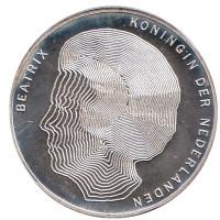 100 лет правлению королев. Монета 50 гульденов. 1990 год, Нидерланды.