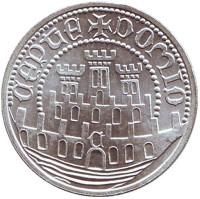 XVII Европейская художественная выставка. Монета 500 эскудо. 1986 год, Португалия.