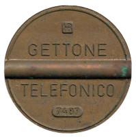 Телефонный жетон. 7407. Италия. 1974 год. (Отметка: IPM)