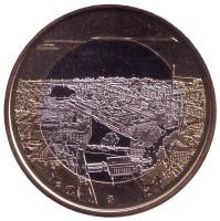 Таммеркоски. Монета 5 евро. 2018 год, Финляндия.
