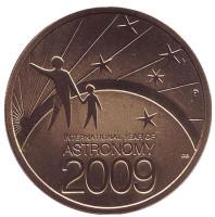 Международный год астрономии. Монета 1 доллар. 2009 год, Австралия.