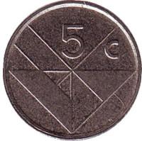 Монета 5 центов. 1998 год, Аруба.