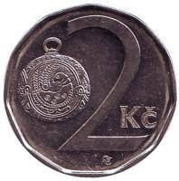 Монета 2 кроны. 2007 год, Чехия.