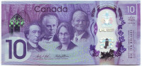 150 лет Конфедерации Канада. Банкнота 10 долларов. 2017 год, Канада.