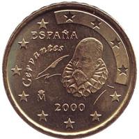 Монета 10 центов. 2000 год, Испания.