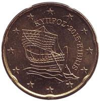Монета 20 центов. 2015 год, Кипр.