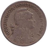 Монета 1 эскудо. 1931 год, Португалия.
