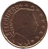 Монета 20 центов. 2007 год, Люксембург.