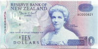Кейт Шеппард. Банкнота 10 долларов. 1992-1997 гг., Новая Зеландия.