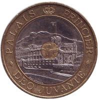 Княжеский дворец. Монета 20 франков. 1992 год, Монако.
