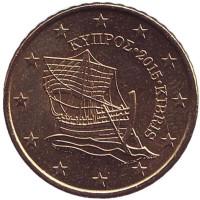 Монета 50 центов. 2015 год, Кипр.