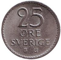 Монета 25 эре. 1968 год, Швеция.