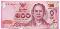 Король Рама IX. Банкнота 100 батов. 2017 год, Таиланд.