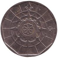 Роза ветров. Монета 20 эскудо. 2000 год, Португалия.