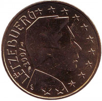 Монета 50 центов. 2007 год, Люксембург.